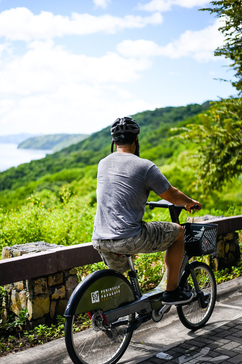 Riding bikes around the Gulf of Papagayo in Guanacaste.